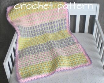 Cotton Candy - Crochet Baby Blanket Pattern