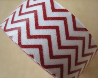 Washi Tape - Single Roll - Chevron - Red and White
