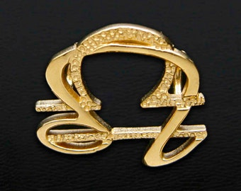 45 Leo and Libra Gold Unity Pendant