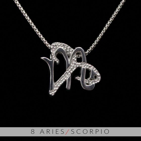 8 aries and scorpio silver unity pendant like this item mozeypictures Images