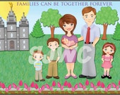 FAMILIES Can Be Together FOREVER Children's File Folder Game - Downloadable PDF Only