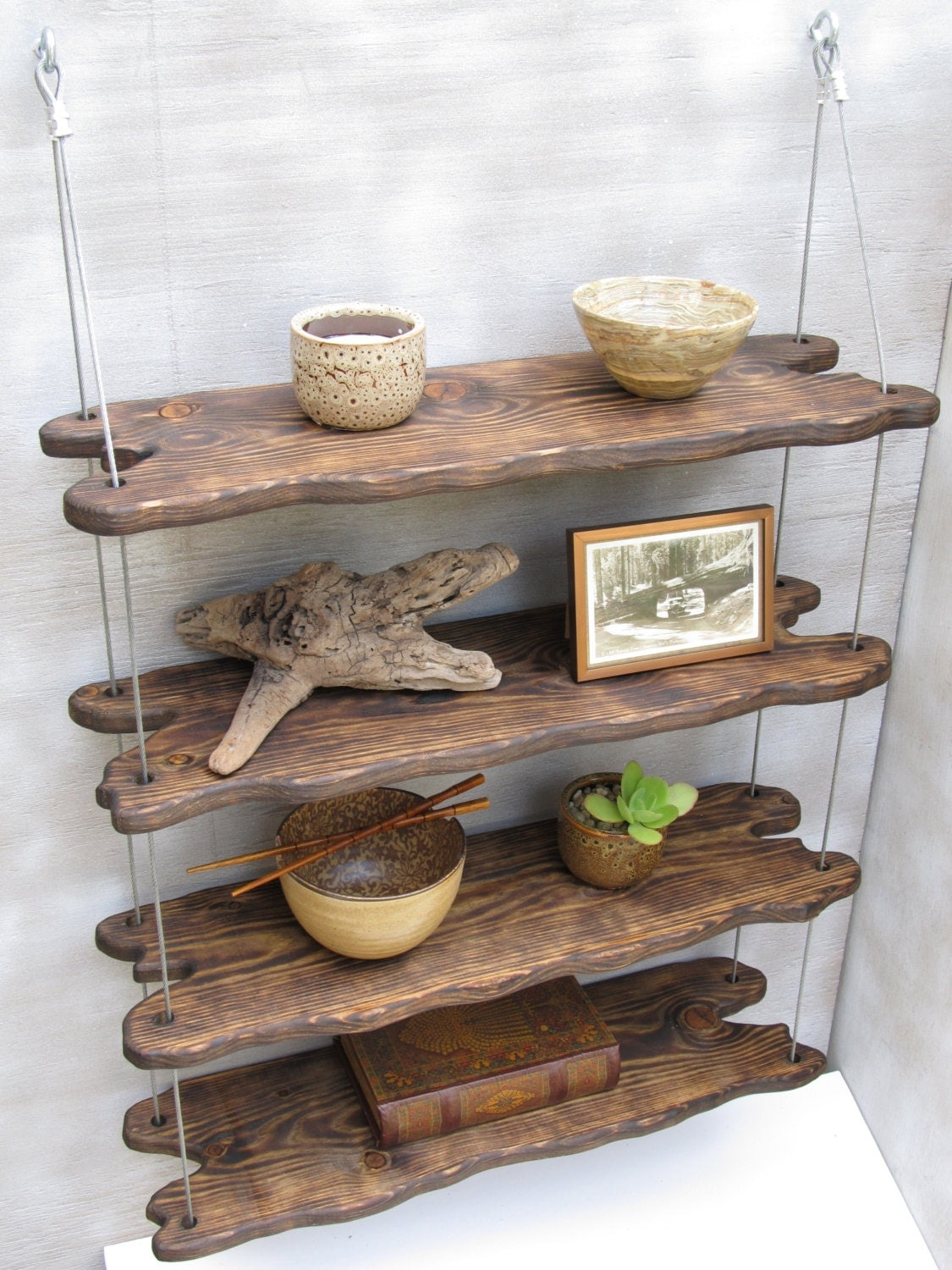 Driftwood shelves display shelving shelving system shelves for How to make display shelves