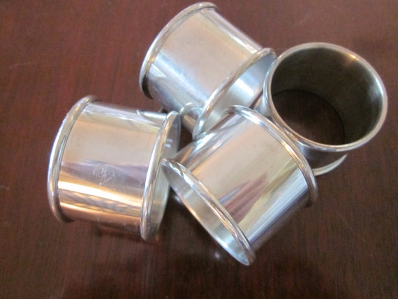 Vintage Silver Plate Napkin Rings Dining Decor
