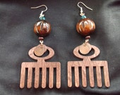 Adinkra symbol-DUAFE . Ear Dangles