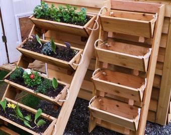 "New 24"" vertical gardening raised elevated Survival standing plant planting system bed vegetables garden planter kit"