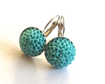earrings spring turquois