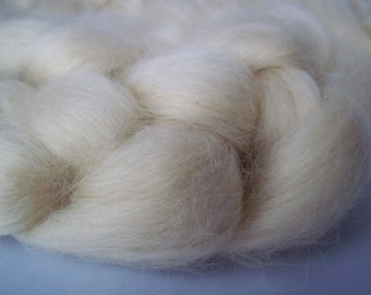 Wensleydale Spinning Fiber, Top Roving 100g / 3.5oz, British Wool