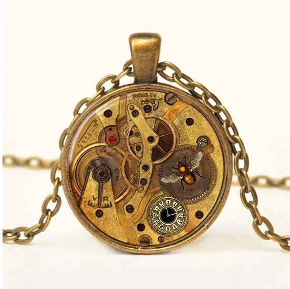 Steampunk Pendant Steampunk Jewelry Vintage Steampunk Necklace Steampunk Gears Mechanical Cogs