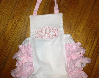Infant baby girl ruffle romper sun suit sizes NB-24 months