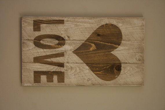 Items similar to rustic love valentine sign wedding decor for Sign decoration