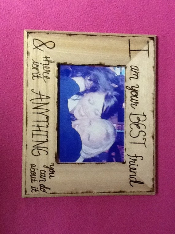 Wedding Gift Ideas For Close Friends: Items Similar To Best Friends Picture Frame On Etsy