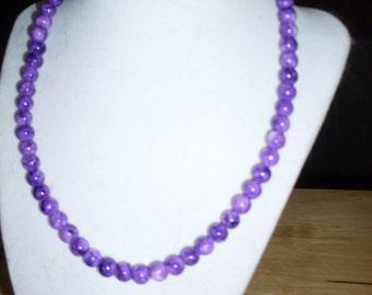 Variegated Purple bead necklace