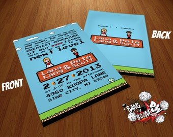 DIY 8 Bit Wedding Invitations