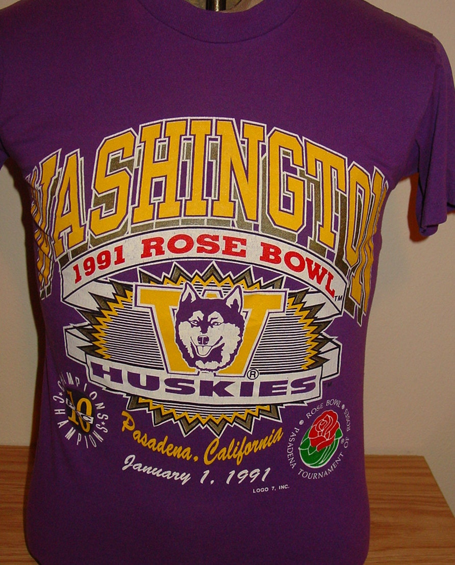 Vintage Uw Huskies Rose Bowl T Shirt University Of Washington