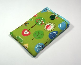 Apple Orchard Kindle Cover, Handmade Green Apples eReader Case, Apples Kindle Sleeve