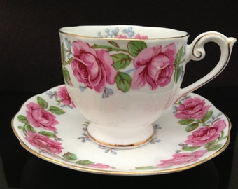 Lady Alexander Rose Queen Ann cup and saucer