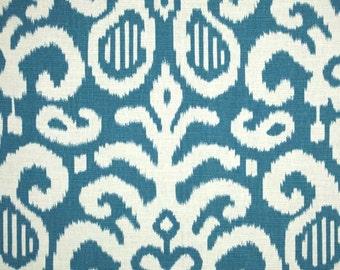 Fabric by the Yard Blue Fabric Suburban Home Fergana Ikat Aqua Blue