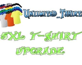 5XL t-shirt Upgrade