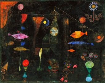 Items Similar To Burg Und Sonne By Paul Klee On Mono