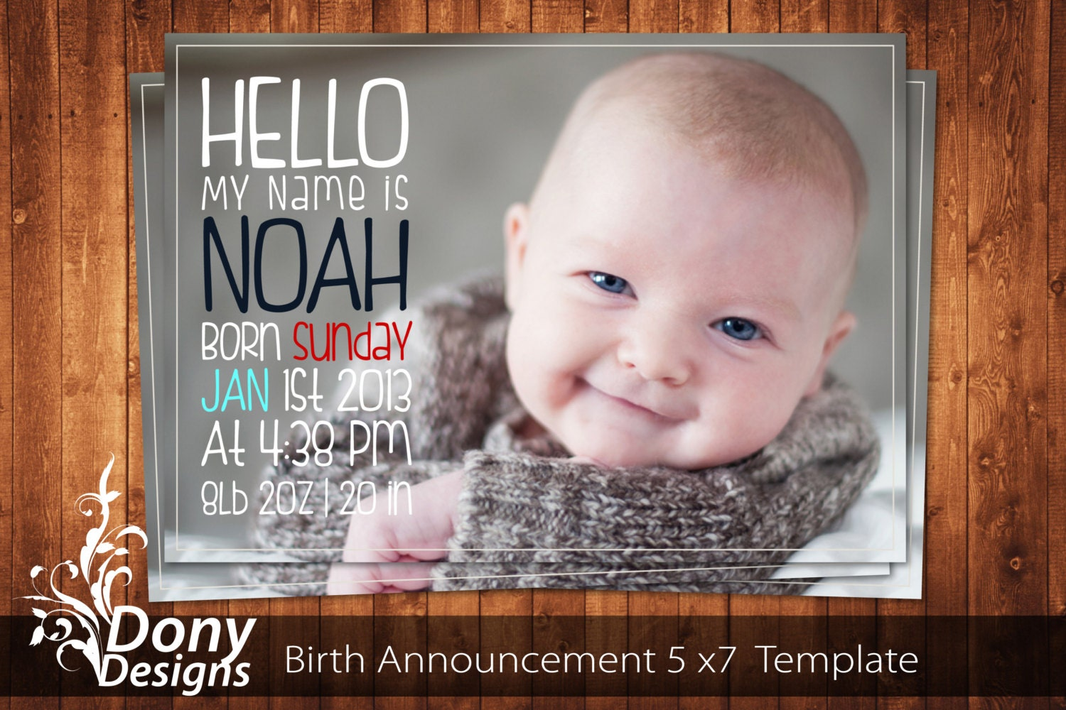 Buy 1 get 1 free birth announcement neutral baby for Free online birth announcements templates