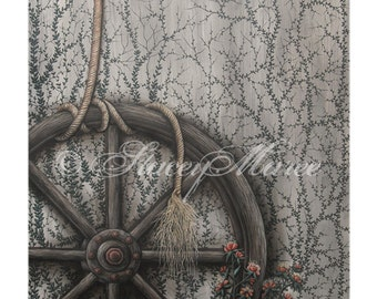 """Art Print A5 and A4 - """"Wagon Wheel"""" - Painting by Stacey Maree"""