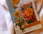 Handmade cards, Paris, birthday cards, collage cards, nature, collage cards,vintage style,  gardening