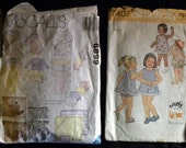Vintage Sewing Patterns From the 70's Babies Toddlers and Collars