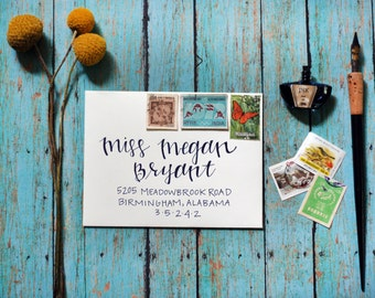 Custom Calligraphy Modern Wedding Envelopes - Modern Mix