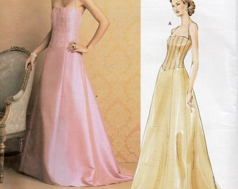 Vogue Designer Pattern 2732 Badgley MISCHKA EVENING DRESS Misses Sizes 12 14 16