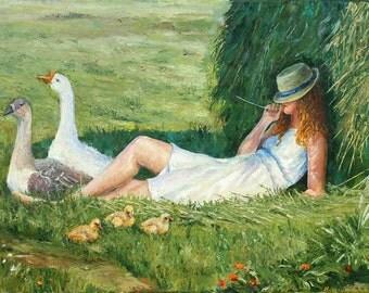 Hot Summer. Oil on canvas. Original. Oil painting By Nataliya shlomenko