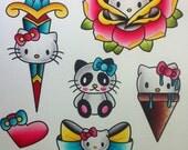 Hello Kitty Flash Sheet Print