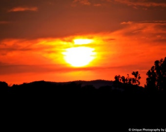 Landscape Photorgaphy- Sunset- Fine Art Photography- 8x12 Print