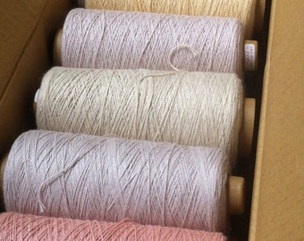 SAORI Organic Cotton - Assorted Natural and Mud-Dyed Colors - Set of 9 Cones