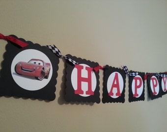 Cars Happy Birthday Banner