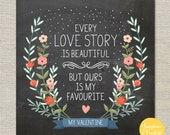 Love story personalised valentines day card