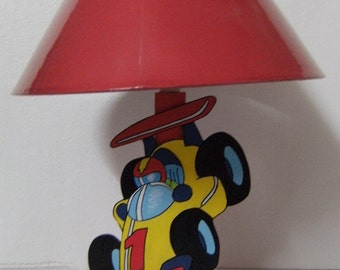 Child lamp wooden pattern formula 1