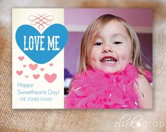 Love Me - Valentine Photo Card