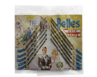 Vintage 1950s The Belles Bridal Hair Grips / Bobby Pins