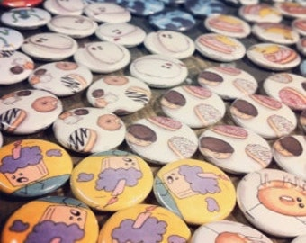 "100 Custom Full Color 1 "" Inch Buttons / Badges"