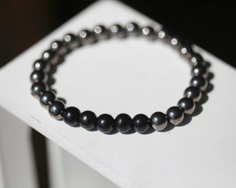 Mens Metal Bar Bracelet - Mens Bracelet - Gun Metal
