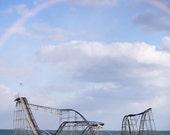 Hurricane Sandy 8x10 print seaside roller coaster ocean