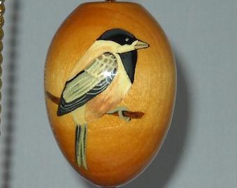 Bird Ornament, Chickadee Christmas Decoration, EGO-24