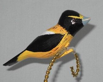 Bird Ornament, Evening Grosbeak Christmas Ornament, CCO-37