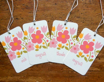 Say Anything Sweet Bloom Gift and Wine Tags