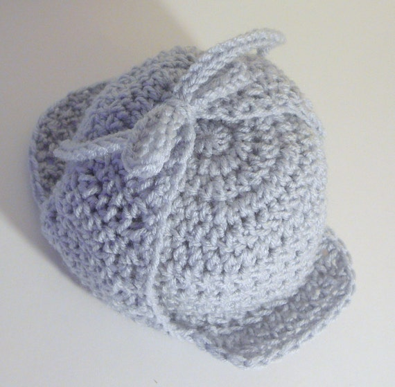 Free Crochet Pattern For Deerstalker Hat : Deerstalker Sherlock Holmes Hat PDF Crochet Pattern by ...