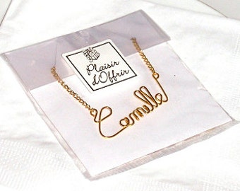 Name Necklace - Gold or silver