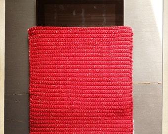 Pochette tablette en crochet
