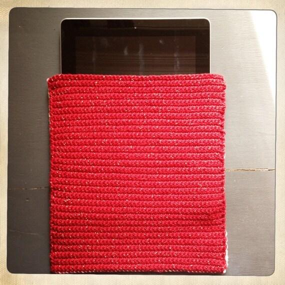 pochette tablette en crochet. Black Bedroom Furniture Sets. Home Design Ideas