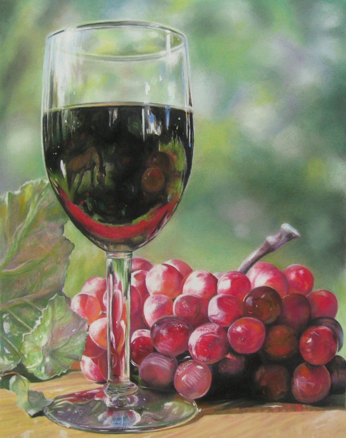 Grapes and wine art the image kid has it for Painting and wine