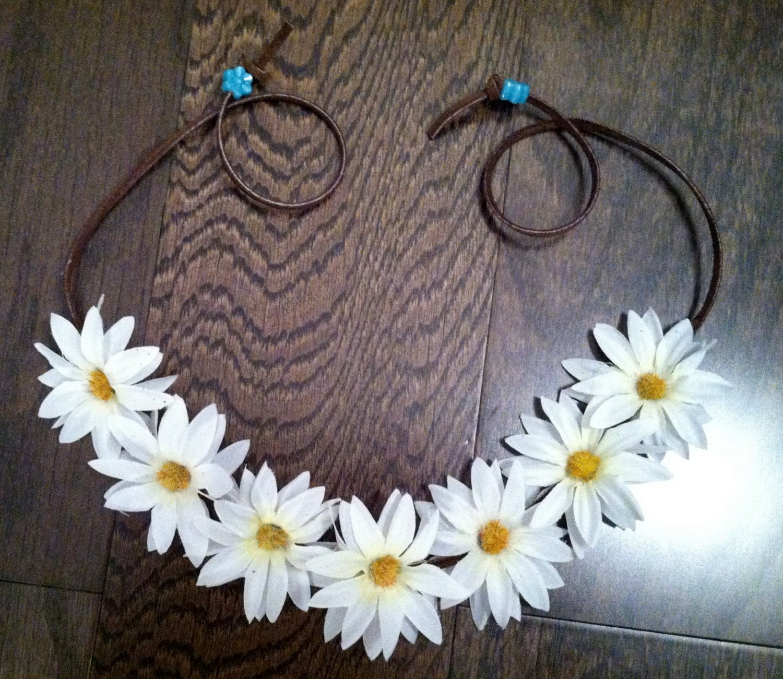 White Daisy Flower Headband Ezoo Flower Crown Flower Halo
